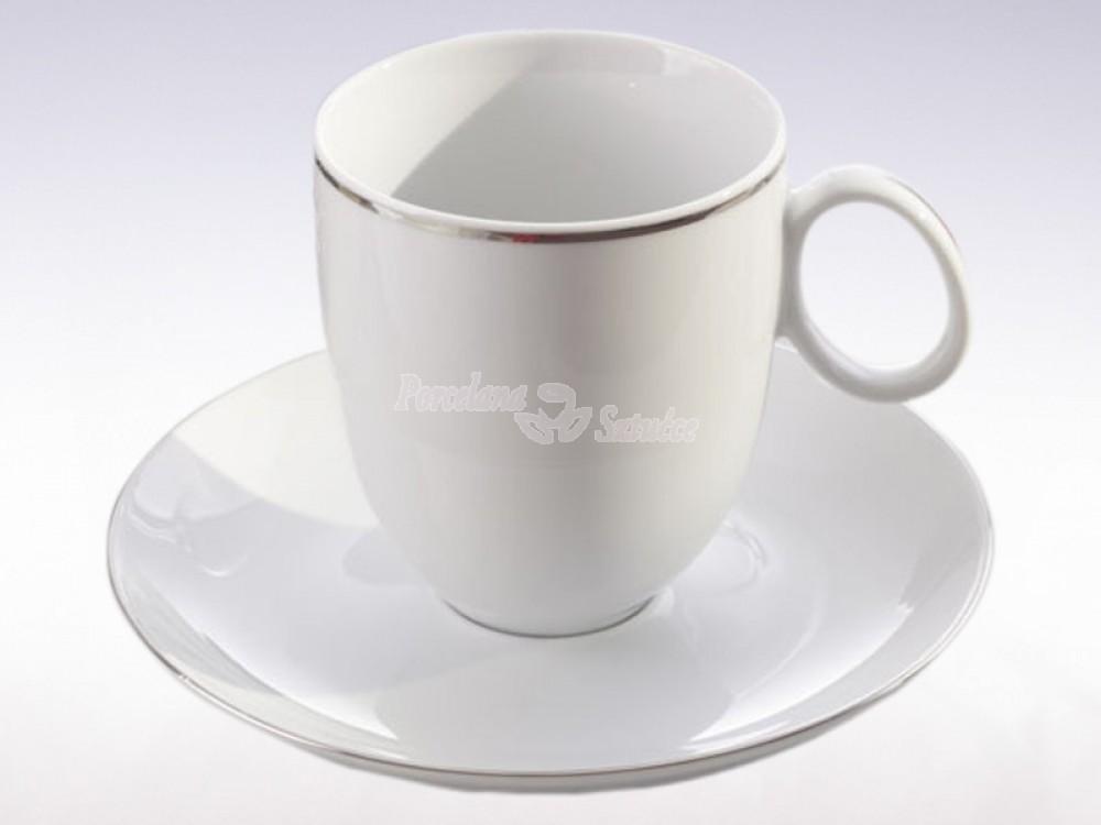 Serwis obiadowo-kawowy 6 osób 30 el. Chodzież Quebec Platynowa Linia 9718
