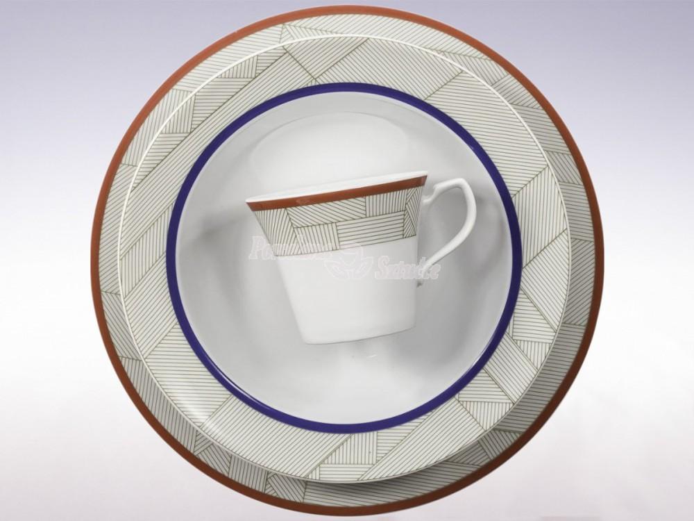 Serwis obiadowo-kawowy 6 osób 30 el. Chodzież Venus Geo G285