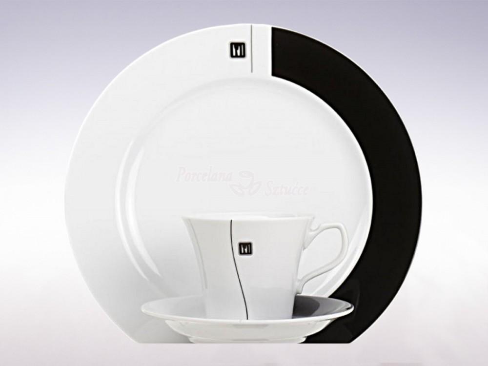 Serwis obiadowo-kawowy 6 osób 30 el. Chodzież Venus Ying Yang K158