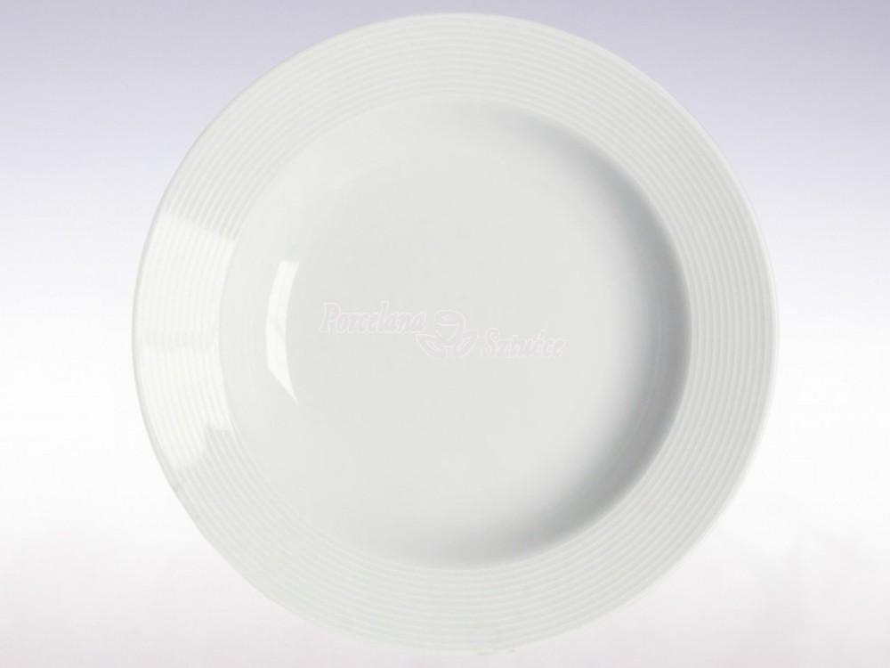 Serwis obiadowy 12 osób 44 el. BW Chodzież Yvette Biała Linea E755