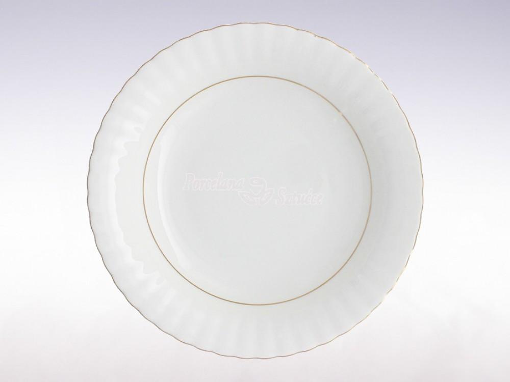 Serwis obiadowy 12 osób 44 el. Chodzież Iwona Złoty Pasek B014