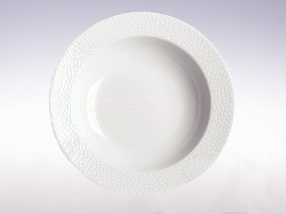 Serwis obiadowy 12 osób 44 el. Chodzież Venus Biała Skóra K220