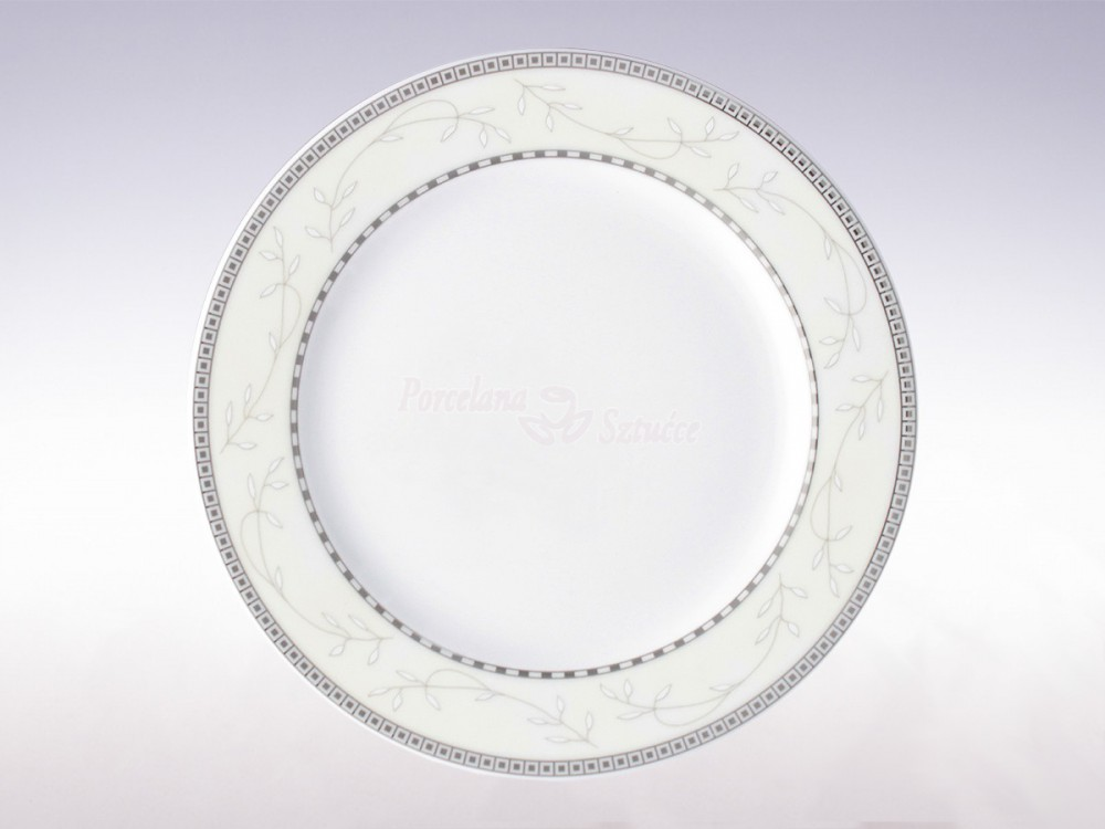 Serwis obiadowy 12 osób 44 el. Ćmielów Astra Marzenie Platynowe B601