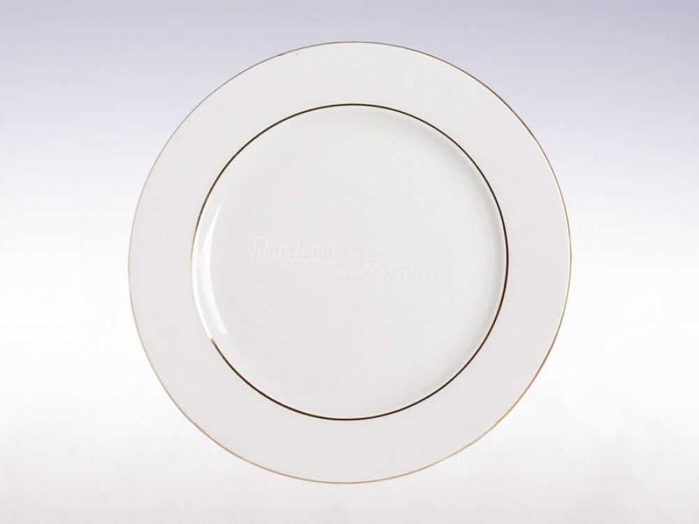 Serwis obiadowy 12 osób 44 el. Ćmielów Astra Złoty Pasek B014