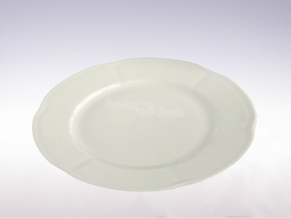 Serwis obiadowy 12 osób 44 el. Ćmielów Bolero Biały 0001