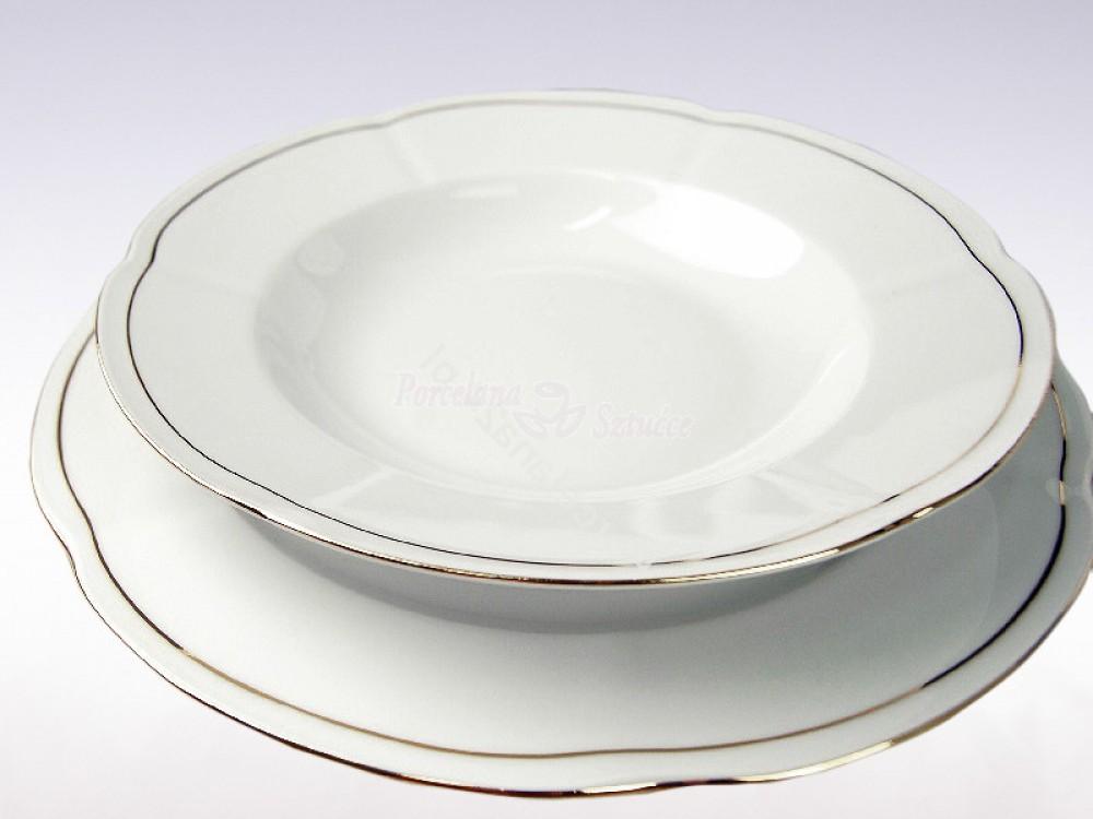 Serwis obiadowy 12 osób 44 el. Ćmielów Bolero Platynowa Linia 3605
