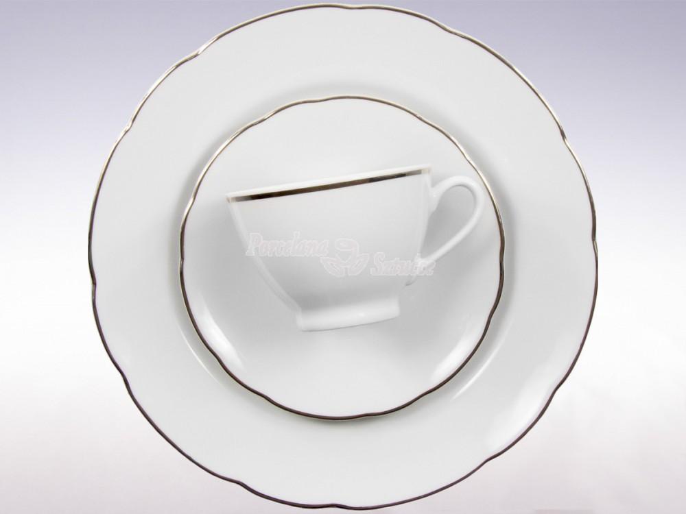 Serwis obiadowy 12 osób 44 el. Ćmielów Feston Platynowa Linia 3605 Wzór