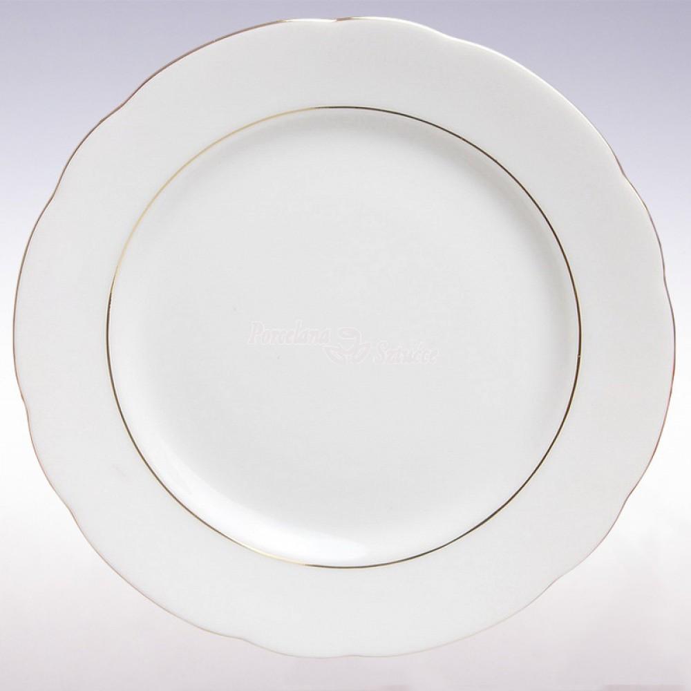 Serwis obiadowy 12 osób 44 el. Ćmielów Feston Złoty Pasek 3604