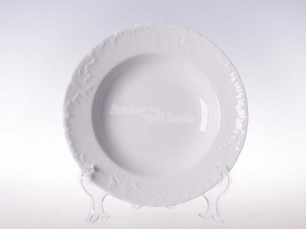 Serwis obiadowy 12 osób 44 el. Ćmielów Rococo Biały 0001
