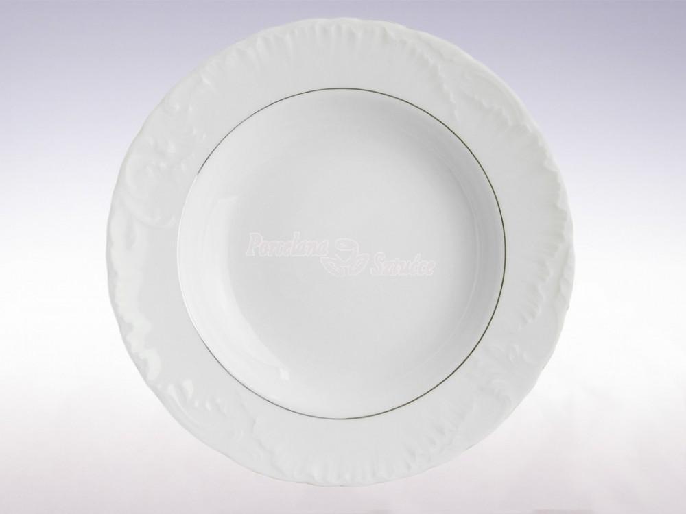 Serwis obiadowy 12 osób 44 el. Ćmielów Rococo Platynowa Linia 3605