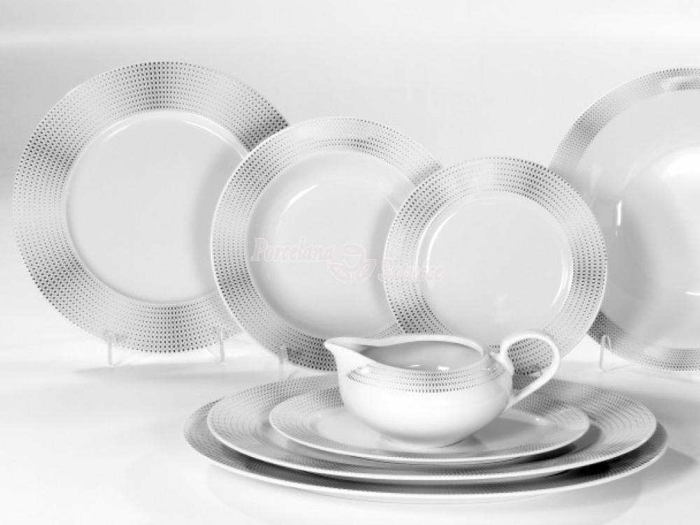 Serwis obiadowy 12 osób 44 el. Ćmielów Yvonne Ola G465