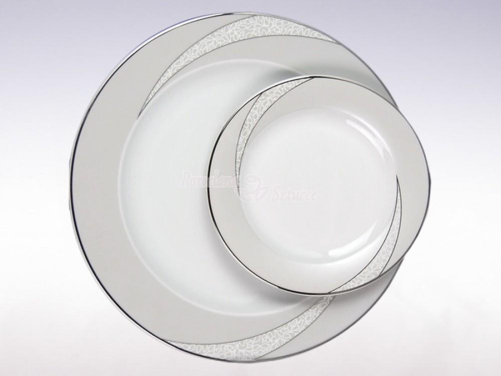 Serwis obiadowy 12 osób 44 el. Ćmielów Yvonne Tezeo E615 Wzór