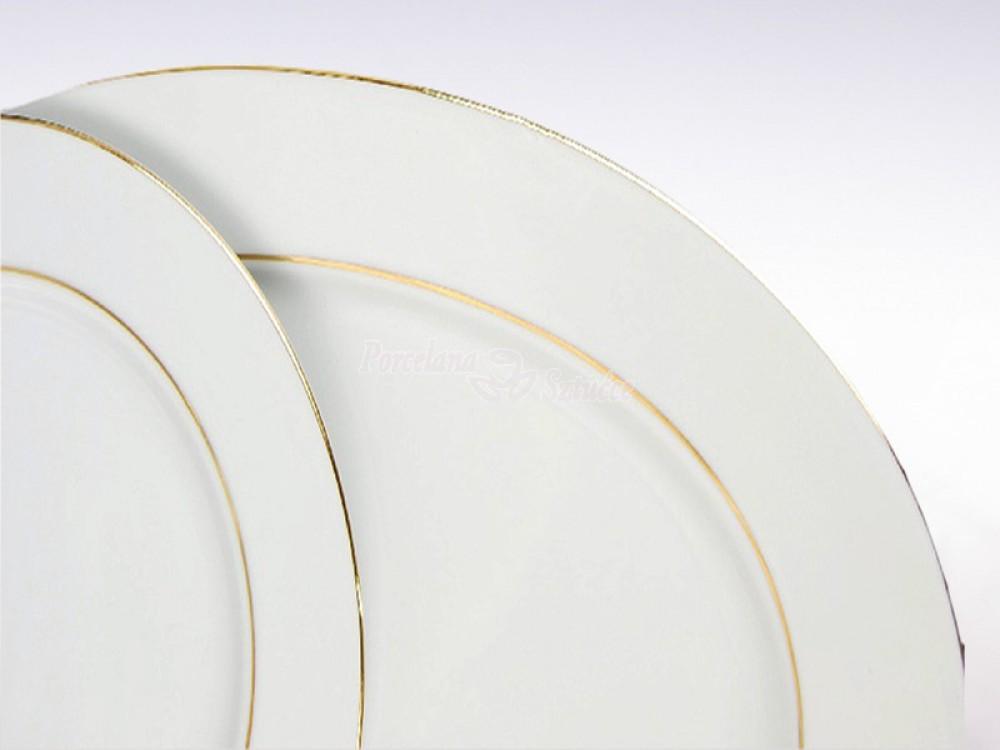 Serwis obiadowy 12 osób 44 el. Ćmielów Yvonne Złoty Pasek 3604 Wzór