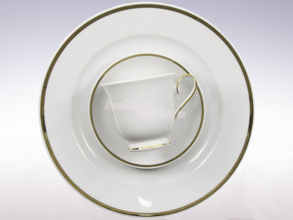 Serwis obiadowy 12 osób 45 el. Ćmielów Astra Złota Wstęga G067 Wzór