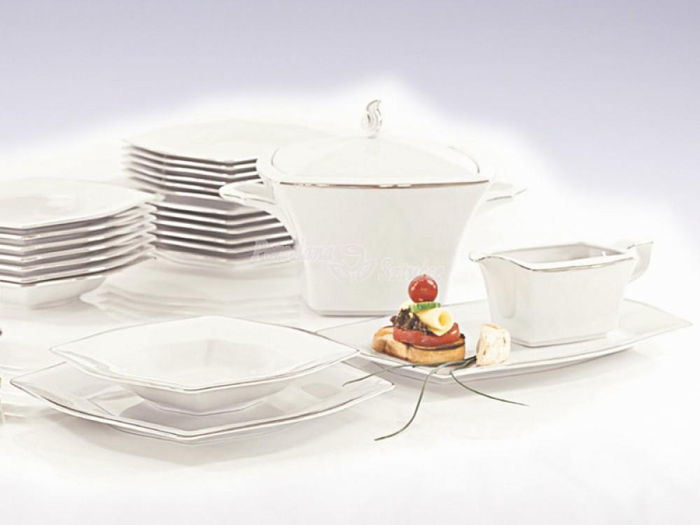 Serwis obiadowy 12 osób 45 el. Ćmielów Lwów Leonia E374