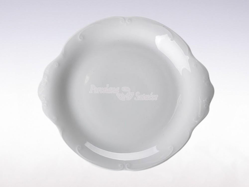 Talerz do ciasta 29 Chodzież Kamelia Biały C000