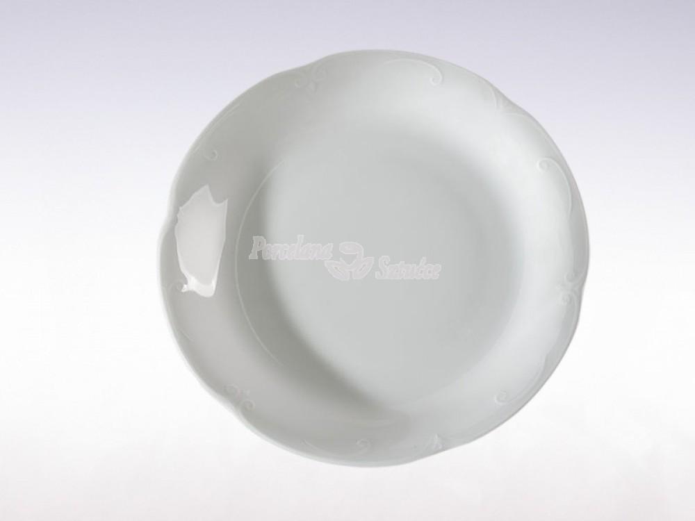 Talerz płytki 24 Chodzież Kamelia Biały C000