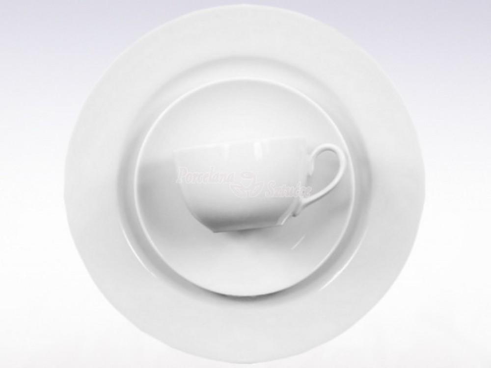 zestaw obiadowo-kawowy 6 osób 30 el. Chodzież Yvette Biały C000 Wzór
