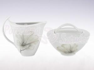 Zestaw cukiernica i mlecznik Ćmielów Akcent Magnolia G463