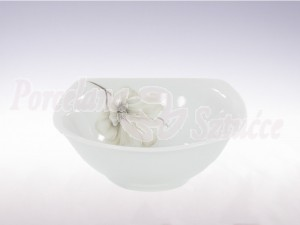Salaterka kwadratowa 17 cm Ćmielów Akcent  Magnolia G463