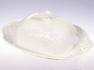 Maselnica Ćmielów Rococo Biały 0001 Wzór