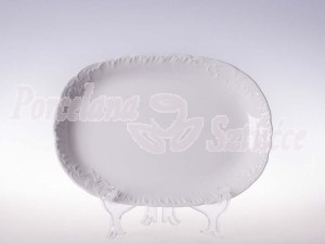 Półmisek owalny 29 Ćmielów Rococo Biały 0001 Wzór