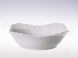 Salaterka kwadratowa 24 Ćmielów Rococo Biały 0001 Wzór